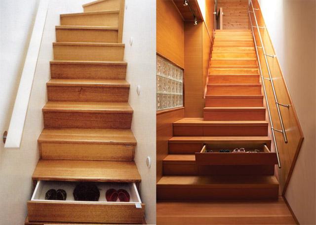 Staircase storage athousandgreatideas for Great storage